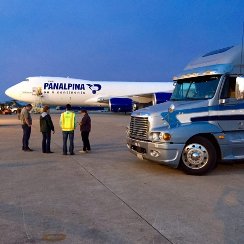 Brook Ledge truck with Panalpina airplane