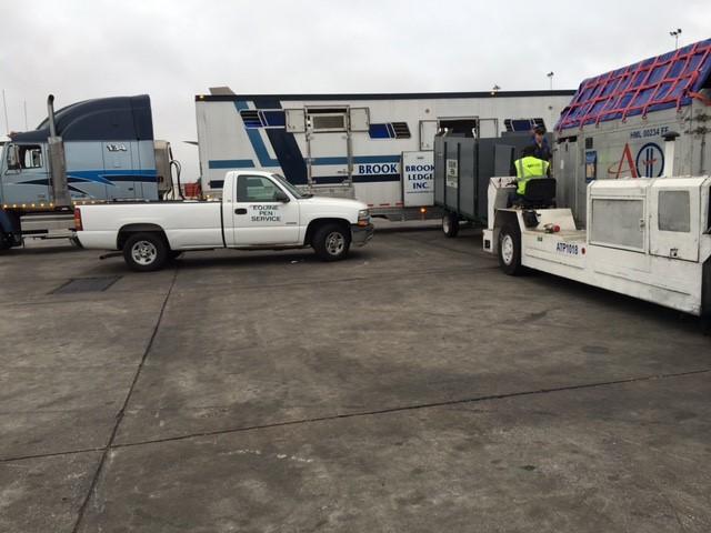 brook ledge truck and van at airport